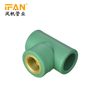"IFANPlus Female Tee PPR Equal Tee 1/2"" 3/4"" 1"" 32mm 25mm 20mm PPR Fitting Brass Fitting Female Tee"