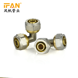 PEX Equal Elbow Brass Fitting PEX-AL-PEX Brass Fitting Brass 90 degree Elbow