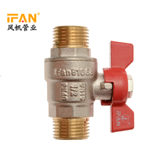 IFAN Brass Valve Male Thread 1/2inch 3/4inch 1inch Red Handle Brass Ball Valve Chrome Plated Male Brass Water Valve