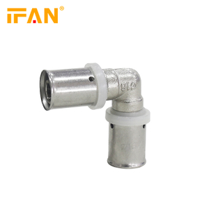 PEX Press Fitting Brass Equal Elbow 16mm 18mm PEX-AL-PEX Elbow 20mm 25mm 32mm Elbow