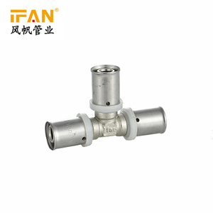 PEX Press Fitting Equal Tee Brass Fitting 90 Degree Tee for PEX-AL-PEX Pipe