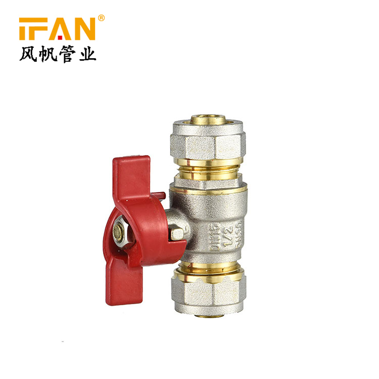 PEX Brass valve 20mm 25mm Ball Valve 16mm 18mm Brass Valve for PEX