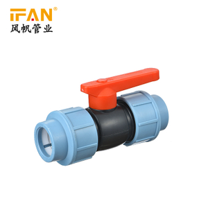 PP Ball Valve HDPE Valve PE Compression Fitting Valve