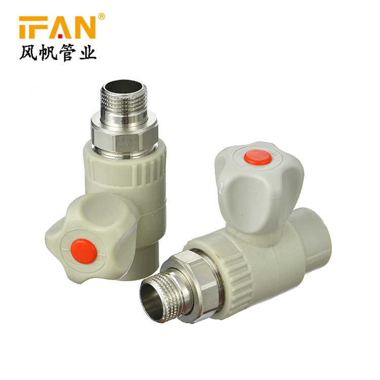 PPR Heater Valve ISO standard wholesale plastic tube water pipe fitting plumbing materials ball valve