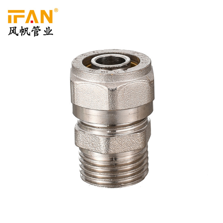 Copper Male Socket PEX Plumbing Fittings Plastic Gas Pipe Fitting PEX Brass Fitting Male Socket