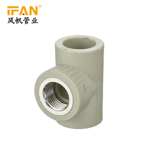 PPR Female Tee 20-63mm Size Plumbing Materials Water Supply Plastic Tee PPR Pipe Fittings