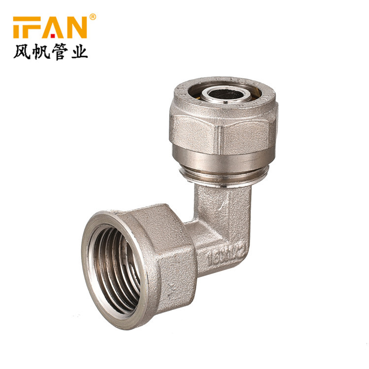 High Quality PEX Plumbing Material Female Threaded Elbow PEX Pipe Fitting 90 Degree Copper Elbow PEX Brass Fitting