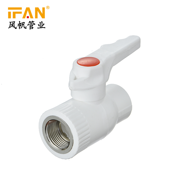 PPR Reduce Female Brass Ball valve White Color PPR Fitting